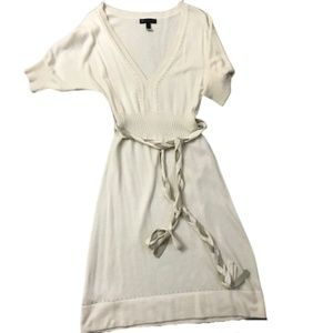 Mango Fitted Sweater Dress With Braided Tie Belt